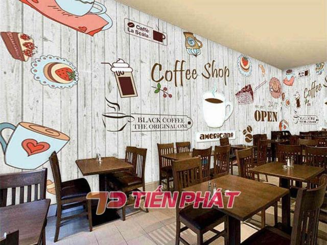 Tranh Dán Tường Quán Coffee GT01