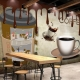 Tranh Dán Tường Quán Coffee GT76