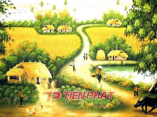 Tranh Dán Tường Đồng Quê DQ2